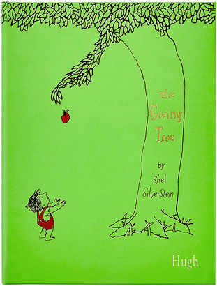 """Graphic Image Personalized Leather Bound """"The Giving Tree"""" Children's Book"""