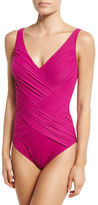 Gottex Lattice Surplice One-Piece Swimsuit