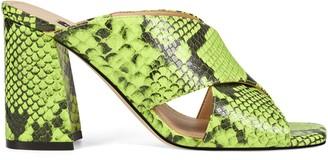 Nine West Gigi Block Heel Slide Sandals