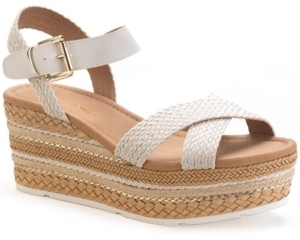 Sun + Stone Callie Wedge Sandals, Created for Macy's Women's Shoes