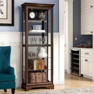 Charbonneau Lighted Curio Cabinet Darby Home Co