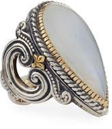 Konstantino Erato Teardrop Labradorite Doublet Ring, Size 6