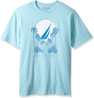 Nautica Men's Tall Short Sleeve Signature Graphic Crewneck T-Shirt