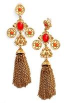 Oscar de la Renta Women's Charm Tassel Clip Earrings