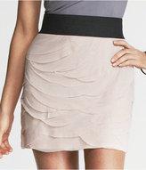 Express Layered Scallop Mesh Skirt