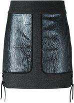 Diesel Black Gold metallic patch skirt