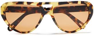 Chloé D-frame Tortoiseshell Acetate Sunglasses