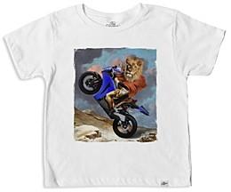 Kid Dangerous Boys' Lion Motorcycle Graphic Tee - Little Kid, Big Kid