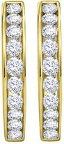 KATARINA 14K Yellow Gold 1 1/2 ct. Diamond Hoop Earrings