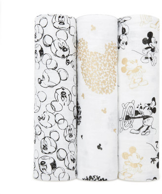 Aden Anais aden + anais Classic Swaddles 3-Pack Mickey's 90th