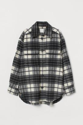 H&M Checked shirt jacket