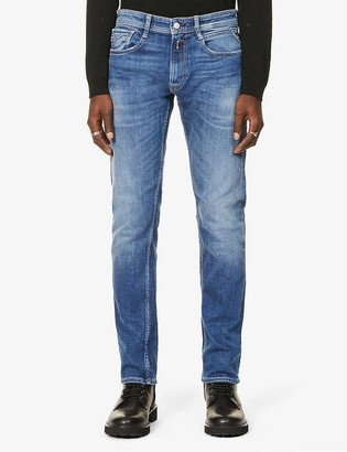 Replay Rocco faded straight jeans