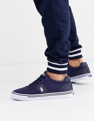 Polo Ralph Lauren Hanford canvas trainers in blue