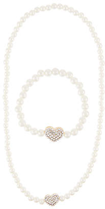 Monsoon Diamante Heart Necklace & Bracelet