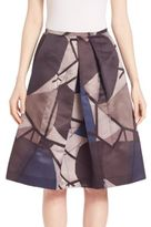 Piazza Sempione Abstract Print Skirt