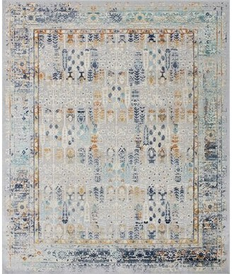 Bungalow Rose Mosely High-Low Silver Area Rug Rug Size: Rectangle 2' x 3'