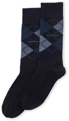HUGO BOSS James Argyle Crew Socks