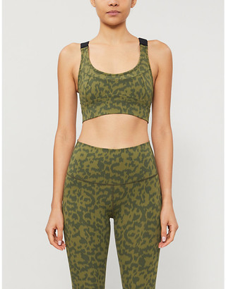 Varley Edris leopard-print stretch-jersey sports bra