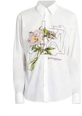 Givenchy Floral Button-Front Shirt