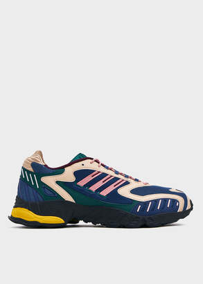 adidas Men's Torsion TRDC Sneaker in Tech Indigo/Glory Pink/Collegi, Size 8.5 | Leather
