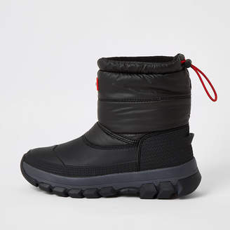 River Island Hunter Originals black padded snow boots