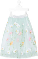 Simonetta floral tulle skirt - kids - Cotton/Polyamide - 8 yrs