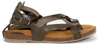 Jonny's Olive Green Strappy Womens Sandal - 36