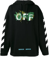 Off-White Diagonals Ferns hoody - men - Cotton/Polyester/Viscose - XS