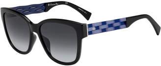 Christian Dior Ribbon1 Square Two-Tone Sunglasses
