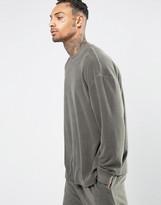 Asos Loungewear Oversized Sweatshirt in Towelling