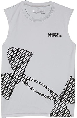 Under Armour Kids Tech Exploded Logo Tank (Big Kids) (Mod Gray/Black) Boy's Clothing