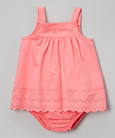 Juicy Couture Coral Eyelet Tank & Diaper Cover - Infant