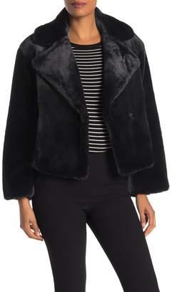 Vince Plush Faux Fur Notch Collar Jacket