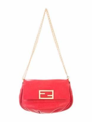 Fendi Vintage Leather Baguette Red