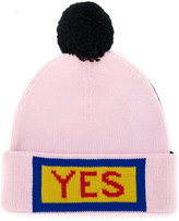 Fendi Yes embroidered beanie