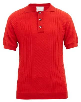 King & Tuckfield - Knitted Merino-wool Polo Shirt - Mens - Red