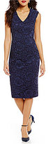 Maggy London Lace V-Neck Sheath Dress