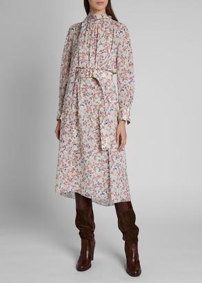 Chloé Floral-Print Silk-Georgette Dress