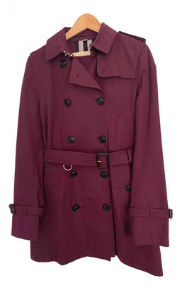 Burberry Purple Cotton Trench coats