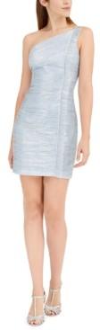 Aidan Mattox One-Shoulder Ruffled Dress