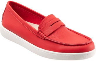 Trotters Leather Casual Slip-On Loafers - Dina