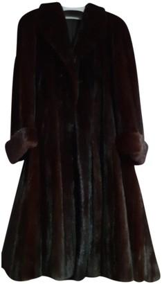Italia Independent Black Mink Coat for Women