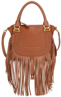 Chloé Medium Marcie Fringe Leather Satchel