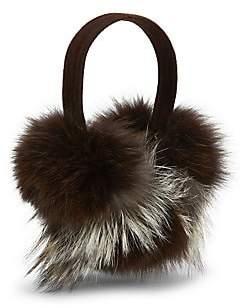 Pologeorgis Women's Fox Fur Earmuffs