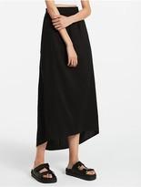 Calvin Klein Platinum Linen Rayon Stretch Skirt