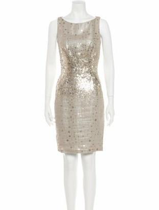 Naeem Khan Linen Mini Dress