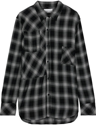 Current/Elliott The Patchwork Project Checked Flannel Shirt