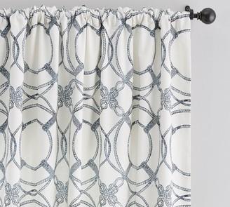 Pottery Barn Kelso Print Linen/Cotton Rod Pocket Curtain