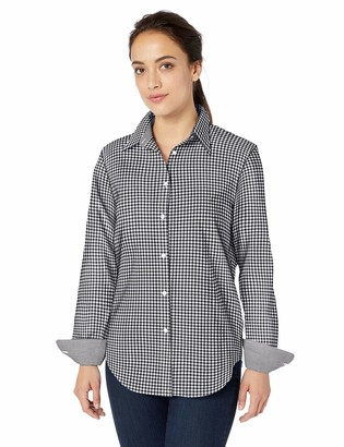 Chaps Women's Fashion Long Sleeve Non Iron Broadcloth Shirt