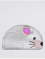 Marks and Spencer Kids' Faux Leather Mouse Cross Body Bag